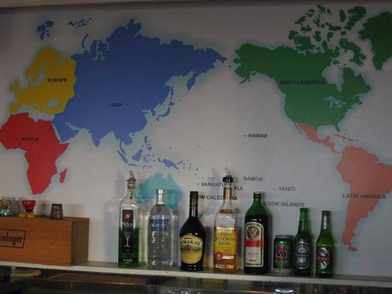 High Tide Bar & Grill: Map at bar