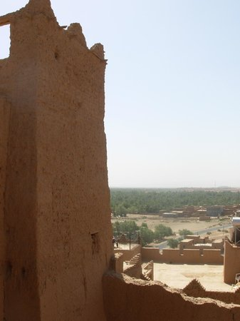 Kasbah Oulad Othmane: View of the palmery from the Oulad Othmane roof