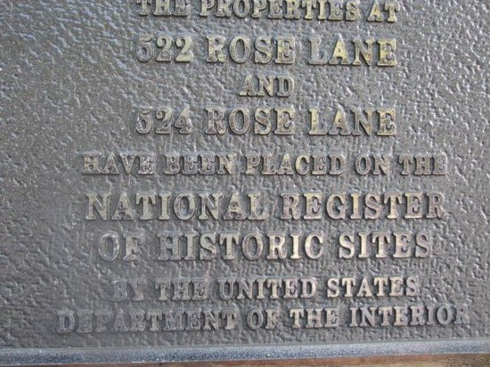 Rose Lane Villas: Historic Plaque