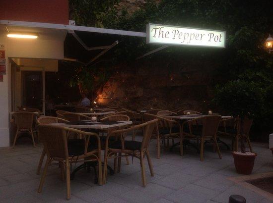 The Pepper Pot: Pepper Pot at night