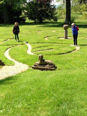 Parham House & Gardens: the maze