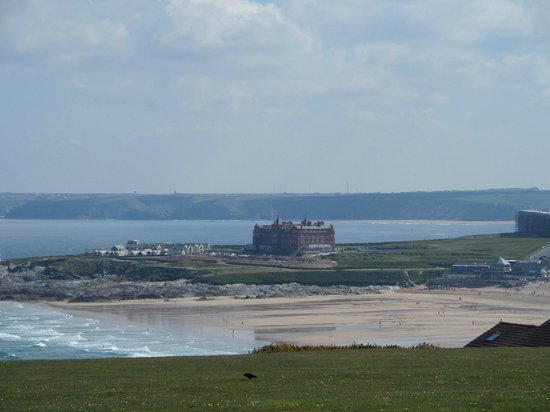 The Pentire Hotel: View of Fistral Beach from our room