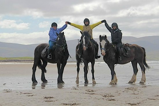 Killarney Riding Stables: The three happiest ladies on earth.