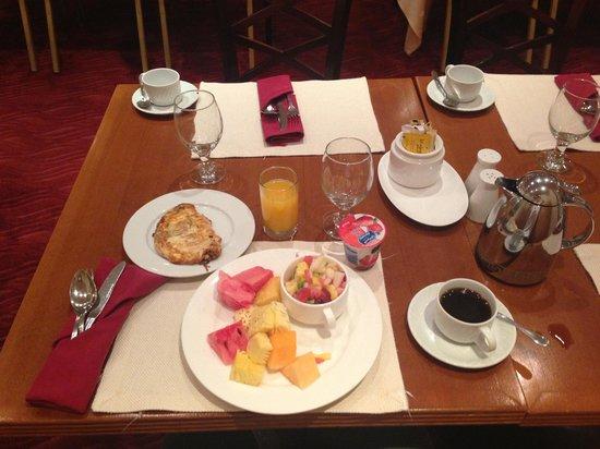 Radisson Blu Hotel, Jeddah: My standard breakfast selection every morning (coffee is great to be in KSA!)