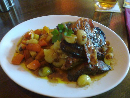 The Station Inn: liver and bacon with roasted veg.