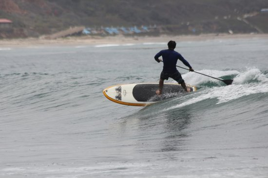 Leo Carrillo State Park and Beach: Paddleboarder.