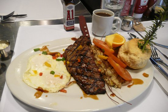 New York Steak and Eggs Special - Picture of Hash House a Go Go Plaza ...