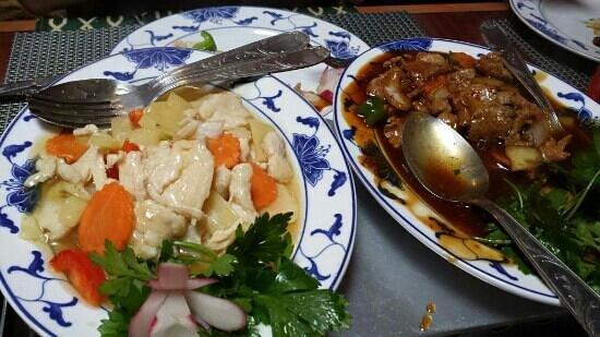 restaurant la cuisine de Taiwan: Poulet à l'ananas
