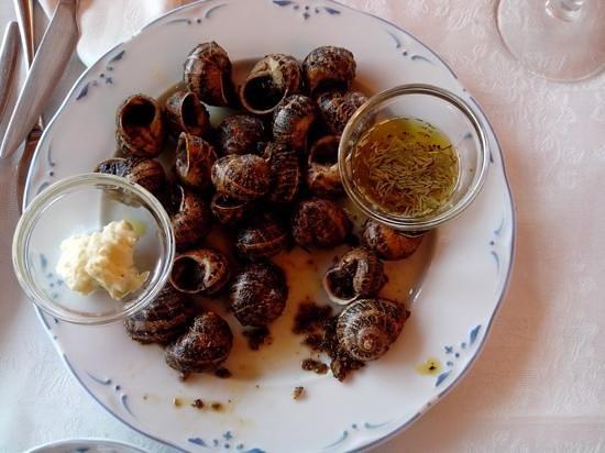 "Hostal Pedraforca: One of specialities, ""Cargols a la llauna"" (snales)"