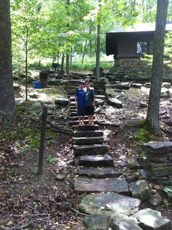 Devil's Den State Park: One note, these steps are hard if you only have small kids with you