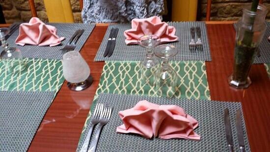 restaurant la cuisine de Taiwan: Présentation table