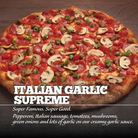 Round Table Pizza: Italian Garlic Supreme