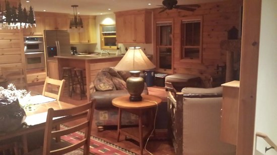 Chippewa Retreat Resort: Living room / kitchen area in Lily Pad Upper