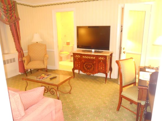 Waldorf Astoria New York: the second room. had two tvs.