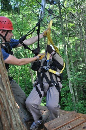 Canopy Tours Northwest: Ole on a rope