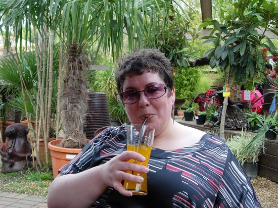 Akamba Garden Centre: Chilling out with a Jamaican Mango soda