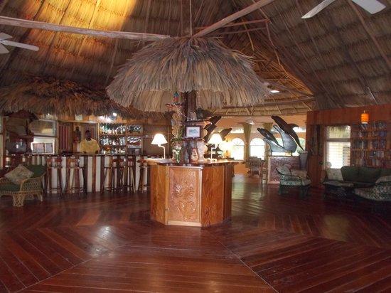 Thatch Caye Resort: main palapa
