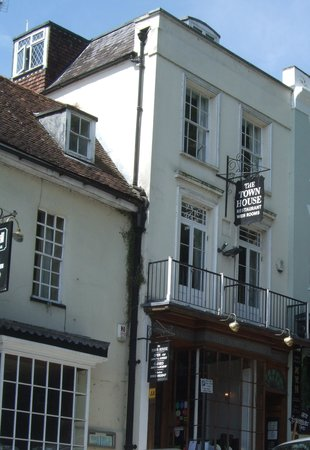 The Town House: view from the street