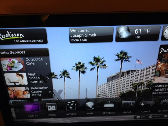 Hyatt Regency Los Angeles International Airport: TV Displayed Wrong Name