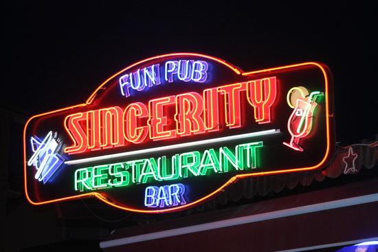 sincerity restaurant bar