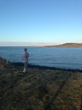Seabound Bed and Breakfast: Clare showing me the seals, I miss my friend!