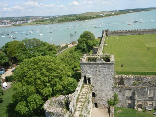 Portchester Castle: View from tower