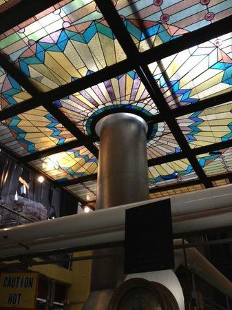 D.G. Yuengling and Son Brewery : With copper kept so shiny the stained glass diffused the light