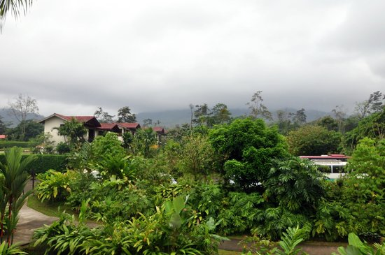 Casa Luna Hotel & Spa: The view from all rooms!  (Arenal in clouds)