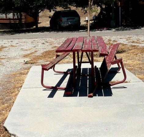Pyramid Lake RV Resort : Would you want to use this table?