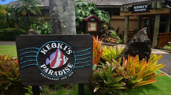 Keoki's Paradise: Signage