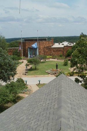 Woolaroc Museum & Wildlife Preserve: Woolaroc museum from the observation tower