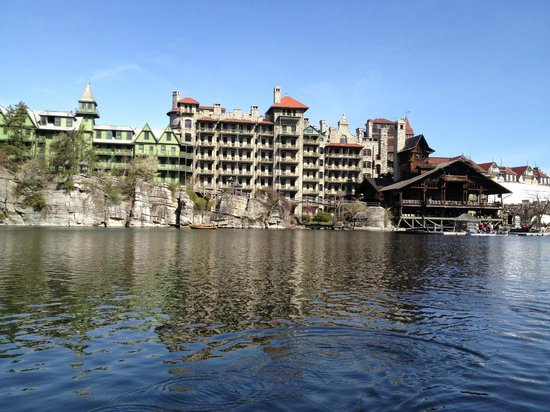 Mohonk Mountain House view from lake