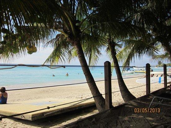 Bananarama Beach and Dive Resort: Amazing beach view while having lunch