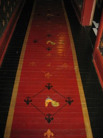 Shanley Hotel: Handpainted Wood Floors