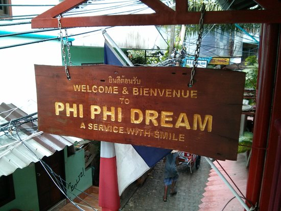 Phi Phi Dream: View from second floor walkway overlooking street