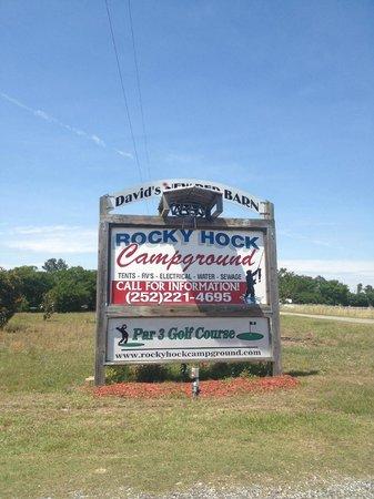 Entrance of Rocky Hock Campground near Edenton NC