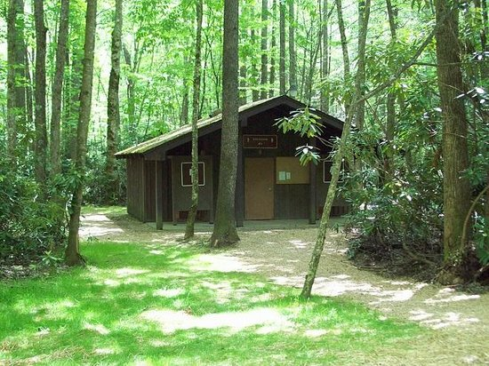 Roan Mountain State Park: The bath-house in the tent section