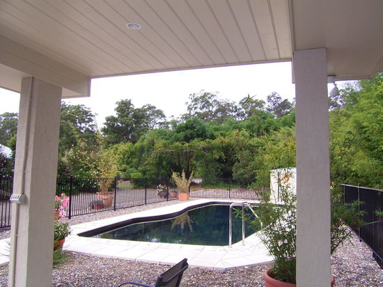 Mescal's at Pampoolah B&B : 11.3m Saltwater pool with garden view