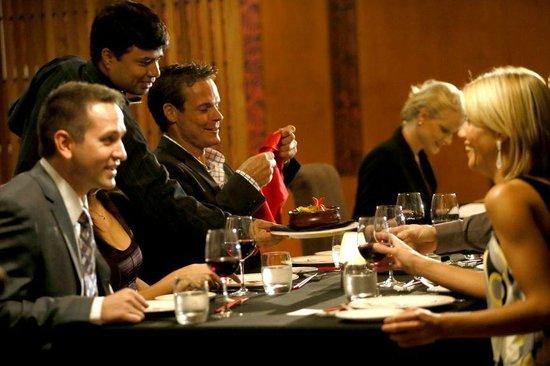 Sukra Restaurant at Lasseters Hotel Casino : fine dining wait staff