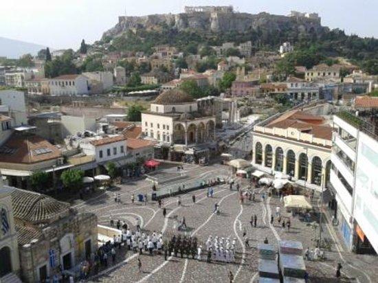 A for Athens Breakfast Lounge: Ausblick von der Dachterrasse