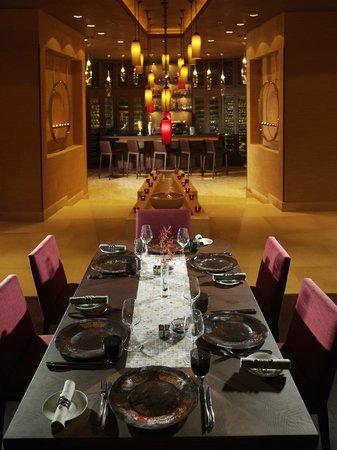 Indigo: Dinner setup