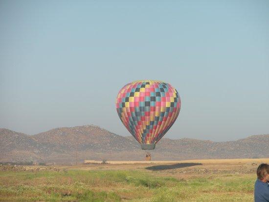A Grape Escape Balloon Adventure: The view!