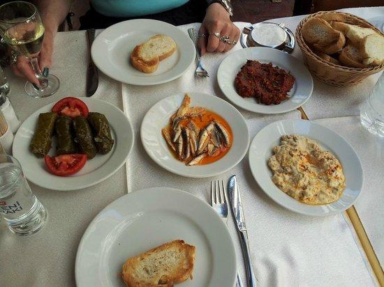 Krependeki Imroz Restaurant : Vorspeisen