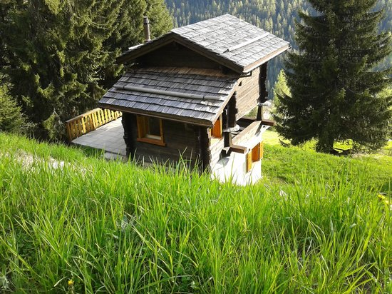Ayer, Switzerland: Sunny Day - coming back to the Chalet