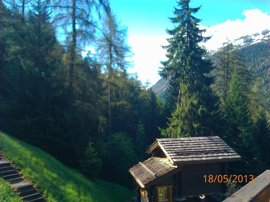 Ayer, Switzerland: One of the many beautiful views from the chalet