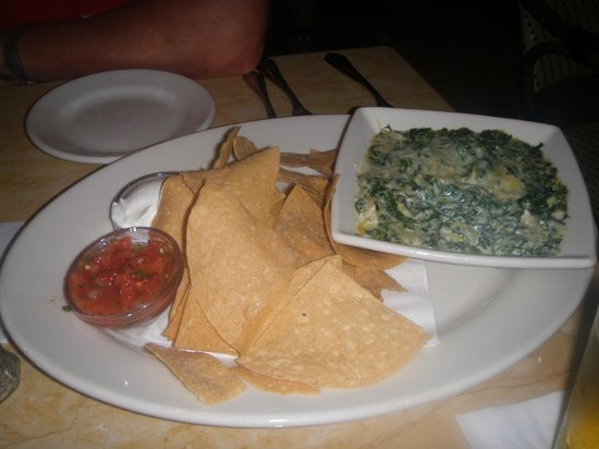 The Cheesecake Factory: spinach and cheese dip