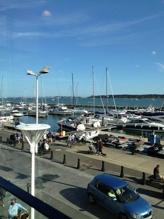 Banana Wharf Poole: View from our table