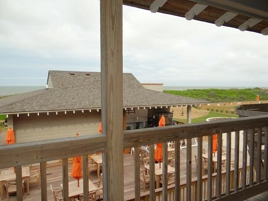 Sanderling Resort: View from Room 340 at the Sanderling Inn. Sold as a premium oceanview room.