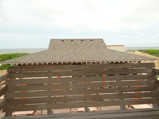 Sanderling Resort: view from the deck of Room 340, labelled as a premium oceanfront room.
