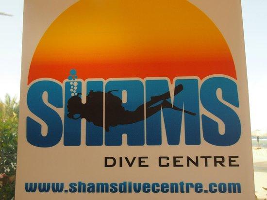 Shams Dive Centre : Shams Dive Center sign